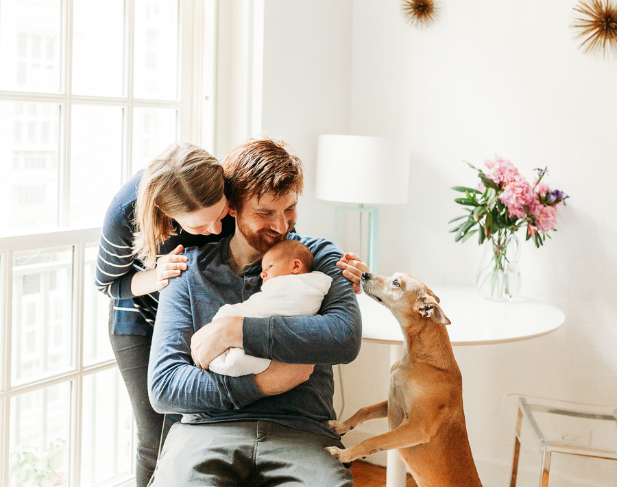 newborn session with dog manhattan maternity photographer charis elisabeth 8124