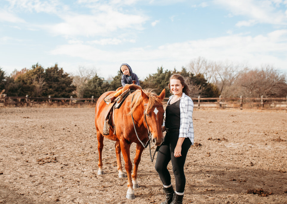 little girl on horse KS brooklyn family photographer 19